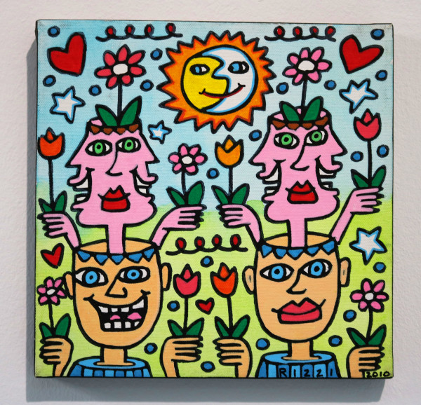 "James Rizzi: ""Heads up"", 2010 (Acryl), Unikat (signiert)"