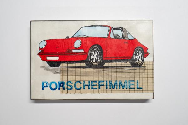 Jan M. Petersen: Porschefimmel rot, Schrift blau, Auflage 3/12