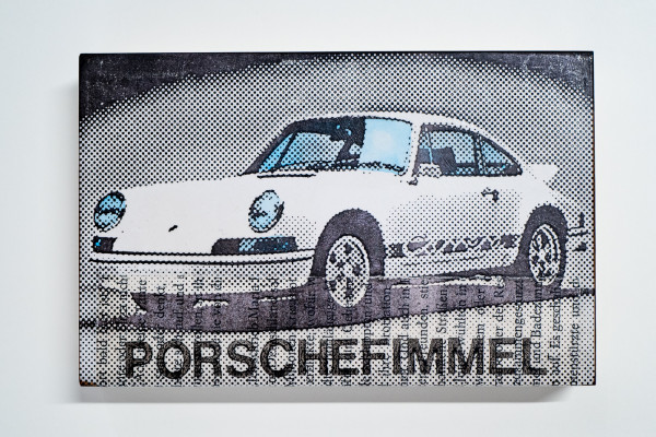 Jan M. Petersen: Porschefimmel weiss, Carrera, Auflage 11/12, rückseitig signiert