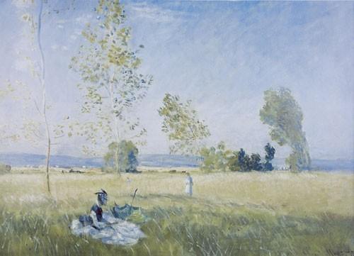 Claude Monet | Wiese in Bezons, 1874 | Kunstdruck
