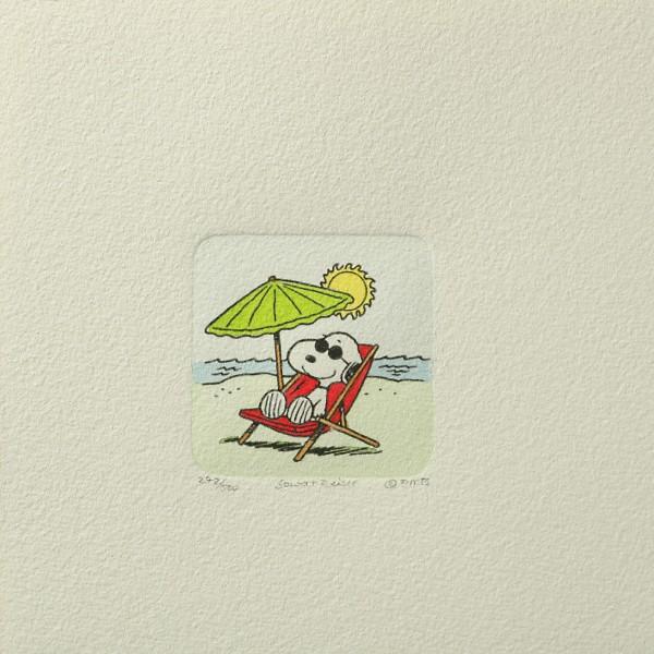 Charles M. Schulz: Peanuts - Snoopy, 08, klein. Original-Radierung