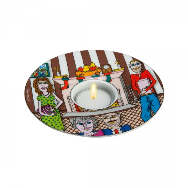 James Rizzi: Christmas with the Family - Teelicht