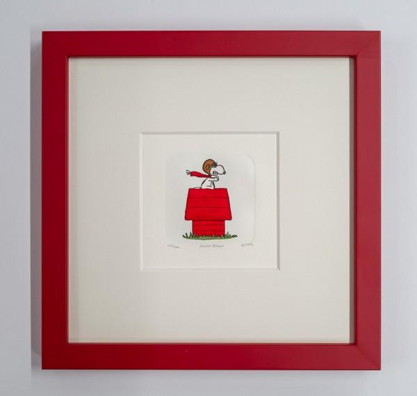 Charles M. Schulz: Peanuts - Snoopy, medium. Original-Radierung