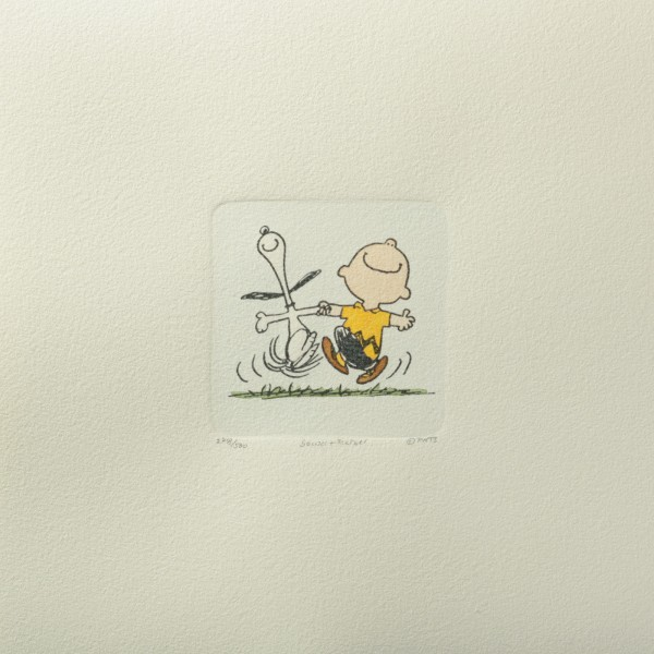 Charles M. Schulz: Peanuts - Charlie Brown und Snoopy, 06, medium. Original-Radierung