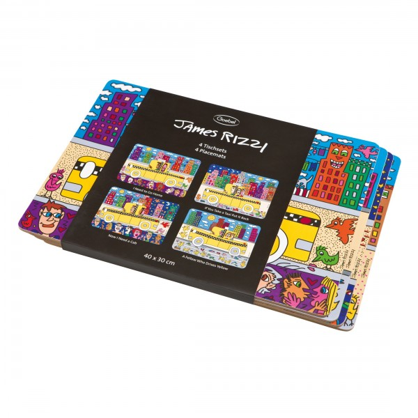 James Rizzi: Platzsets 4er-Set
