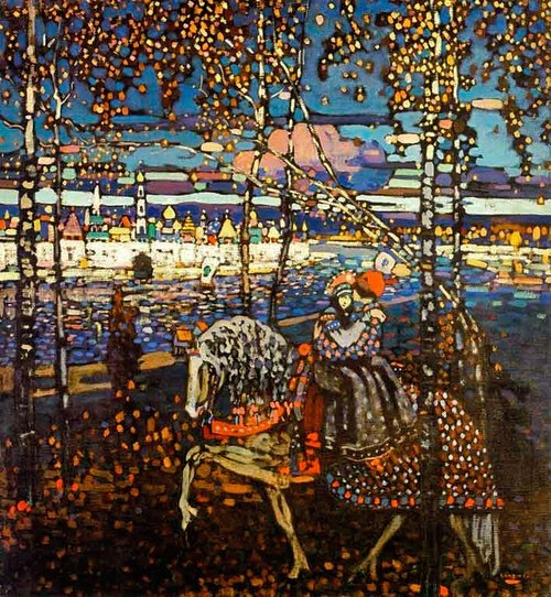 Wassily Kandinsky | Reitendes Paar, 1905