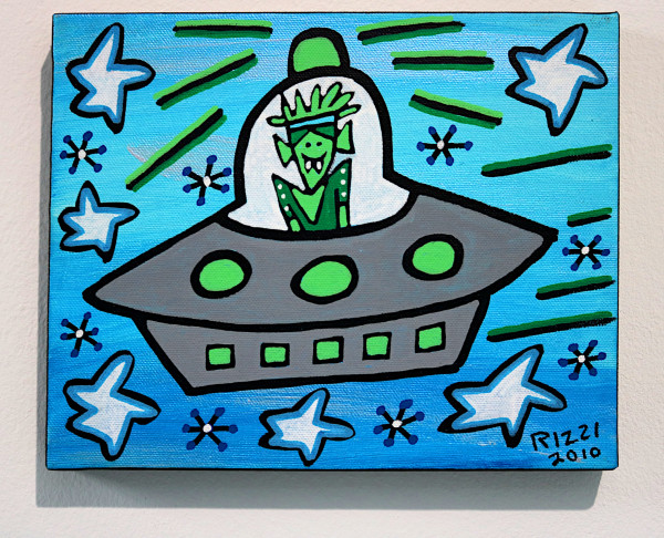 "James Rizzi: ""In from Space"", 2010 (Acryl), Unikat (signiert)"