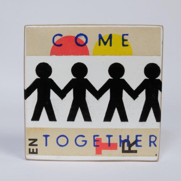 Kati Elm   Come together- Nitrofrottage auf Holz