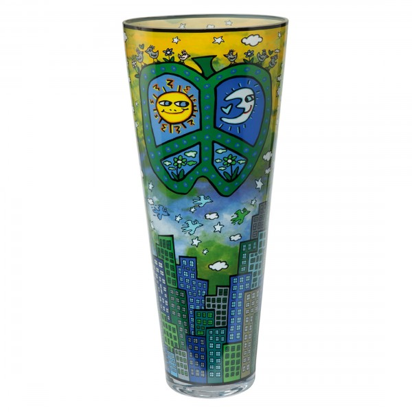 James Rizzi: Peace, Love and Flowers - Vase