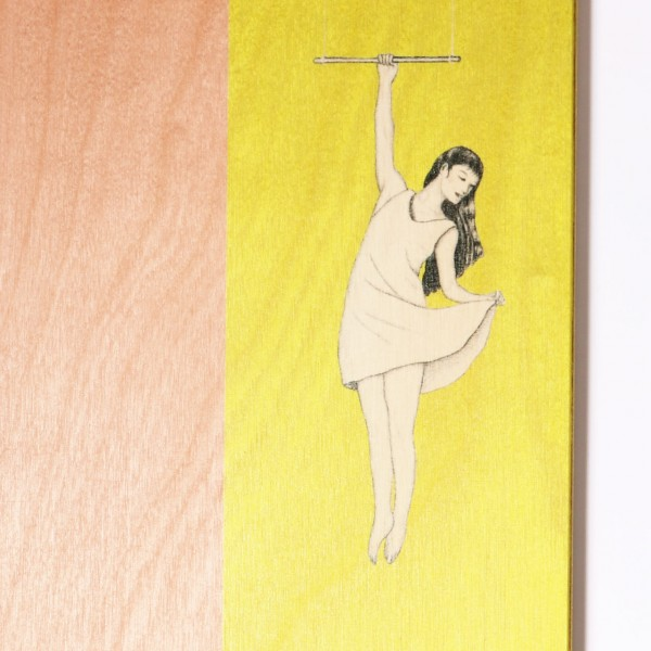 Ask a Duck | Holzbild - Hanging Girl