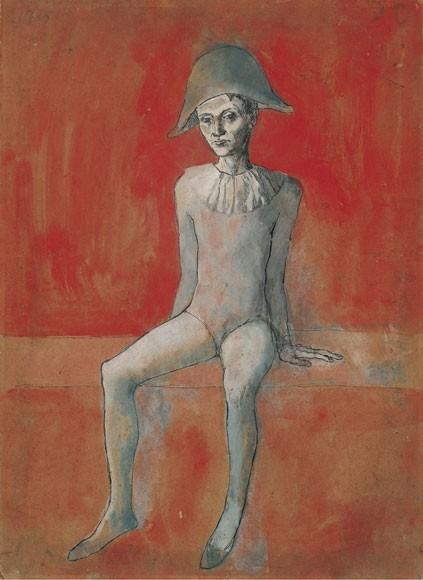 Pablo Picasso | Sitzender Harlekin, 1905