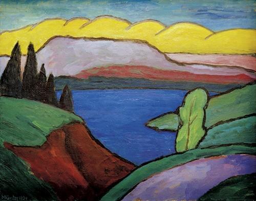 Gabriele Münter | Der blaue See, 1954