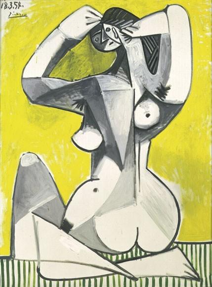 Pablo Picasso | Nu accroupi, 1954