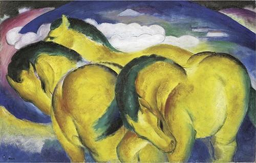 Franz Marc | Die kleinen gelben Pferde, 1912