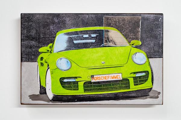 Jan M. Petersen: Porschefimmel giftgrün, Auflage 7/12, rückseitig signiert
