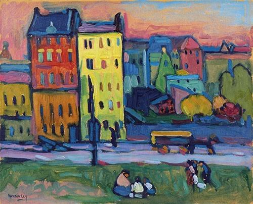 Wassily Kandinsky | Häuser in München, 1908