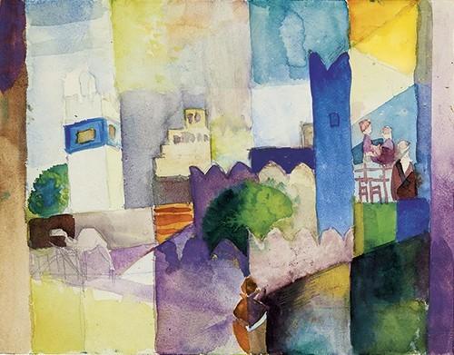 August Macke | Kairouan III, 1914