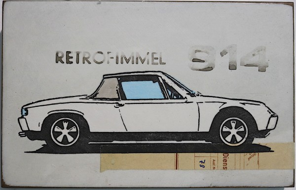Jan M. Petersen: retrofimmel 914, 2018, signiert