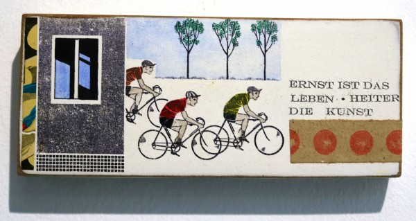 Kati Elm | ernst ist das leben heiter die kunst (Fahrradfahrer)