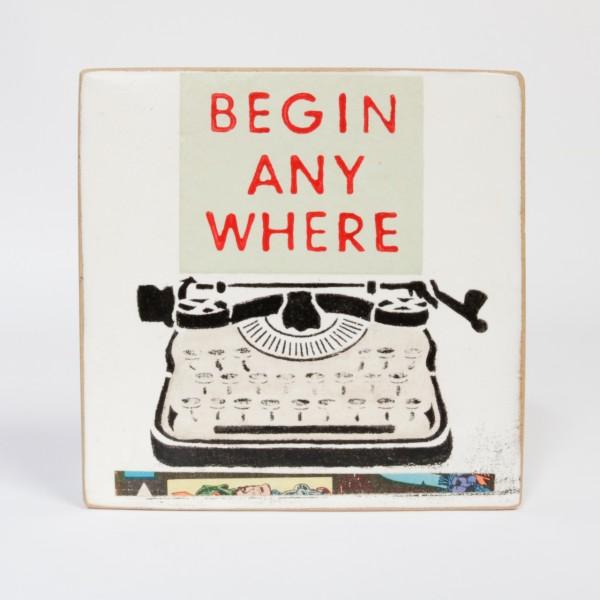 Kati Elm | Begin anywhere - Nitrofrottage auf Holz