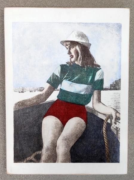Kati Elm: Frau im Boot, Limited Edition, 2016