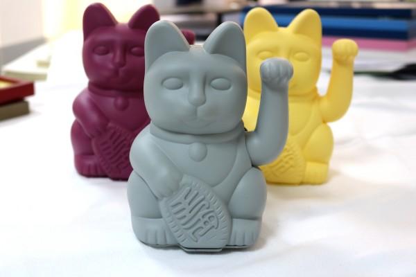 Lucky Cat / Grey / Winkekatze