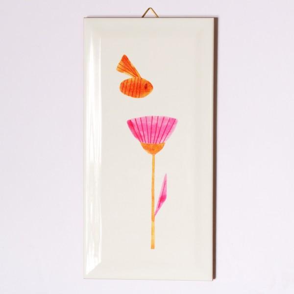 Ask a Duck   Metrofliese - Biene und Blume