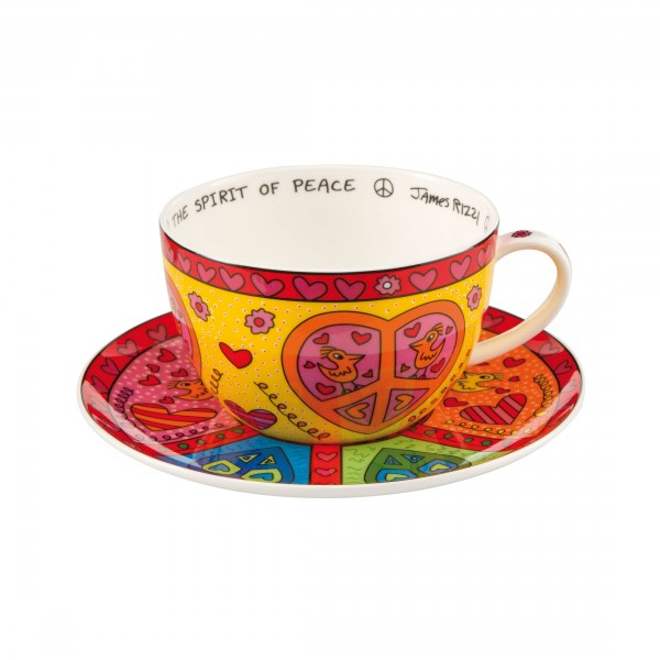 James Rizzi: The Spirit of Peace – Cappuccinotasse / 0.5 l