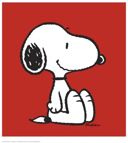 Charles M. Schulz | Snoopy - Red | Handnummeriert