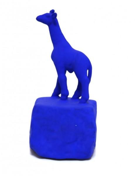 Jo Mazzoni | Giraffe | blau | signiert | 16 cm