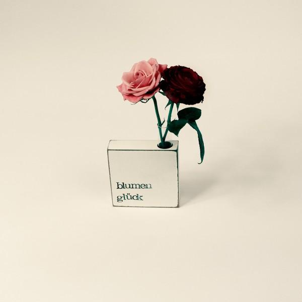 Indra Ohlemutz | Blumenglück | Vase-Textplatte