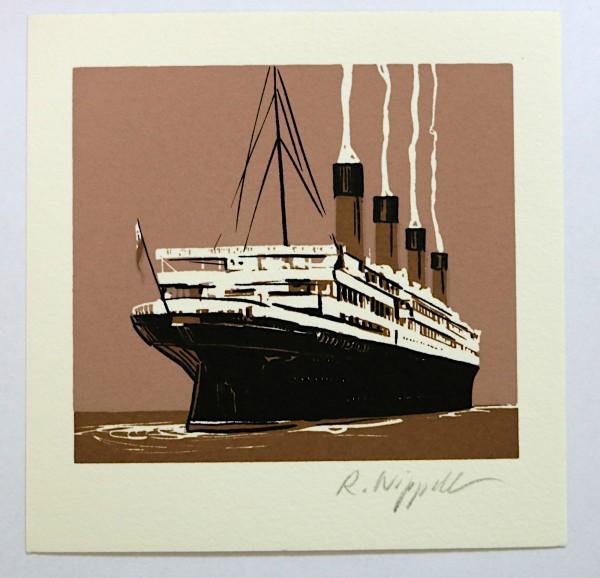 Steamboat (Titanic) | Siebdruck | sepia