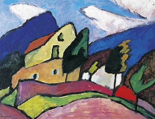Gabriele Münter | Wind und Wolken, 1910