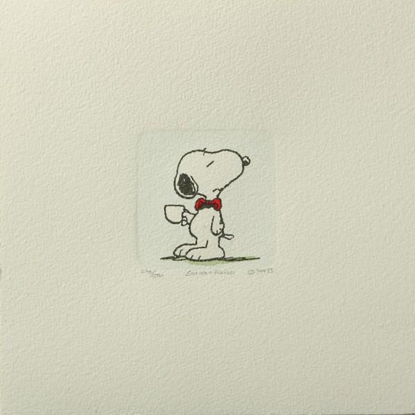 Charles M. Schulz: Peanuts - Snoopy, 06, klein. Original-Radierung