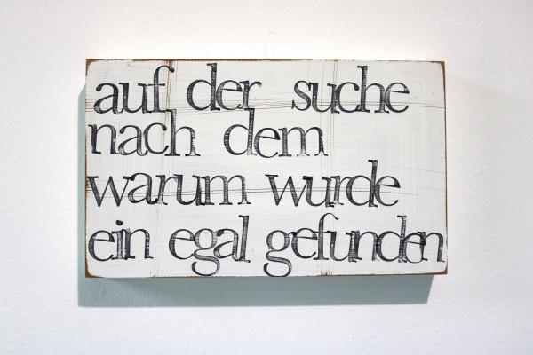 Indra Ohlemutz: auf der suche nach dem warum wurde ein egal gefunden (25 x 15 cm)