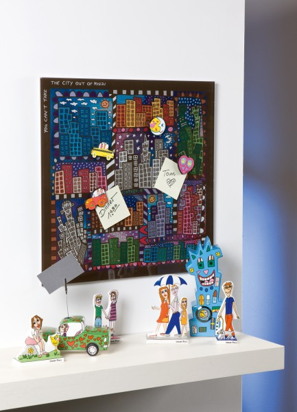 James Rizzi: You Can Not Take the City Out of Rizzi – Magnettafel