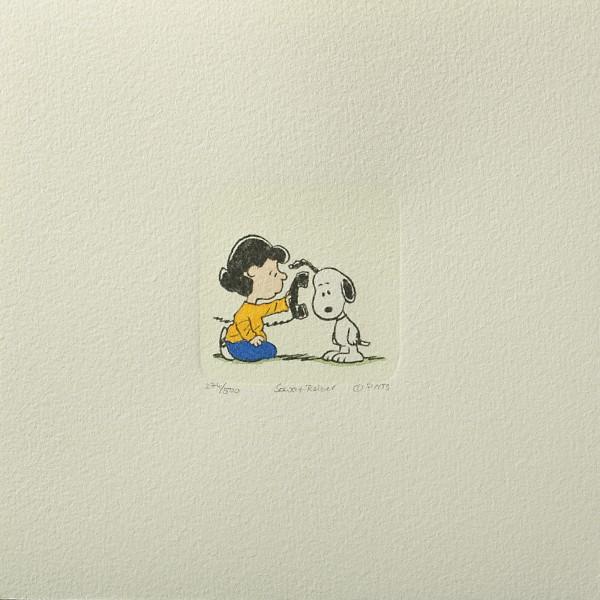 Charles M. Schulz: Peanuts - Lucy van Pelt und Snoopy, 04, klein, Original-Radierung
