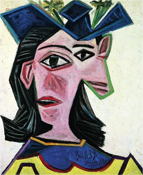 Pablo Picasso | Frauenbüste mit Hut (Dora), 1939
