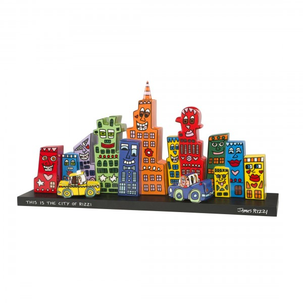 James Rizzi: Mini-Skyline - Set - 7 Häuser