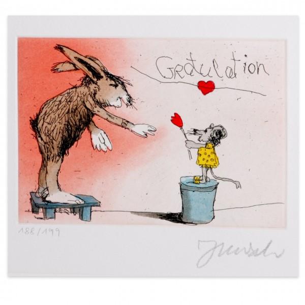 Janosch | Gratulation Du lieber Hase