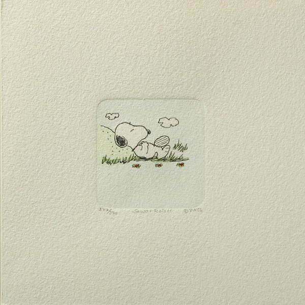 Charles M. Schulz: Peanuts - Snoopy, 05, klein. Original-Radierung