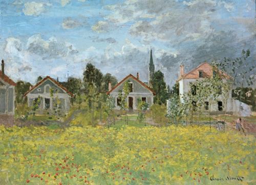 Claude Monet | Häuser in Argenteuil, 1873 | Kunstdruck