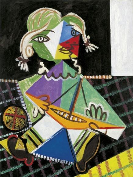 Pablo Picasso | Kleines Mädchen mit Boot (Maya), 30.1.1938