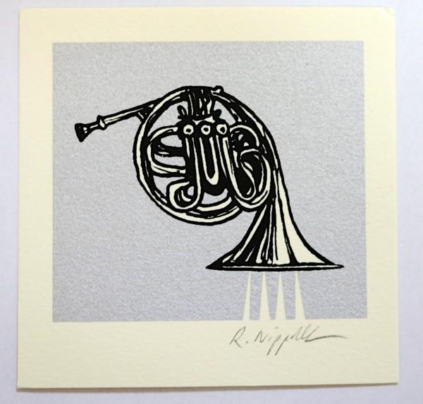 French Horn (Jazz-Edition) | Siebdruck | silber