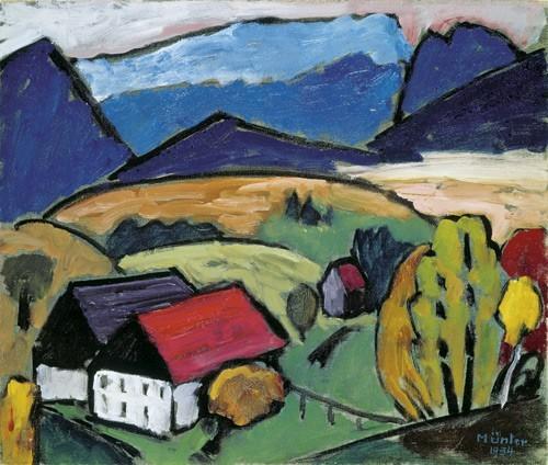 Gabriele Münter | Blick aufs Gebirge, 1934