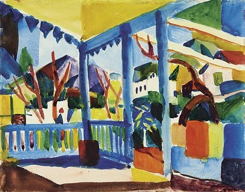 August Macke | Terrasse des Landhauses, 1914