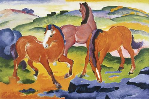 Franz Marc | Die roten Pferde, 1911