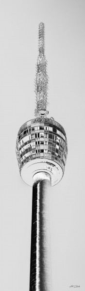 Fernsehturm silber | Photoart in Galeriequalität
