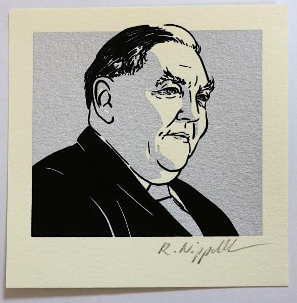Ludwig Erhard | Siebdruck | silber