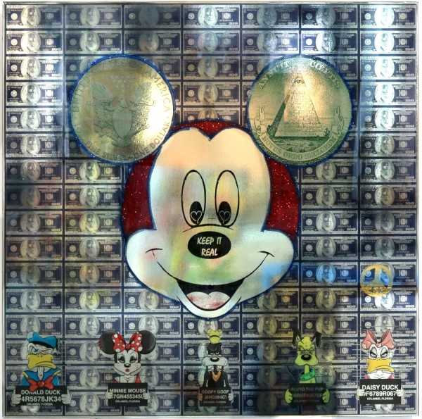 Diederik van Apple | Keep it real Mickey, Epoxy silber